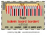 Bulletin Board Border - Priate Theme
