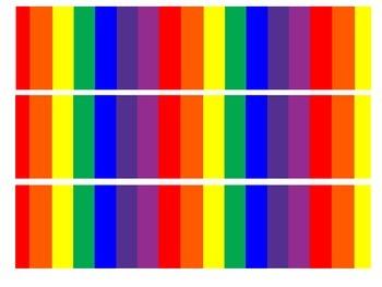 Bulletin Board Border - Rainbow Theme