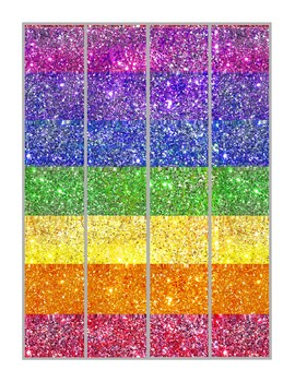 Bulletin Board Border Sparkle Rainbow Colors FREE
