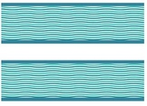 Bulletin Board Border - Straight with Double Ribbon Border