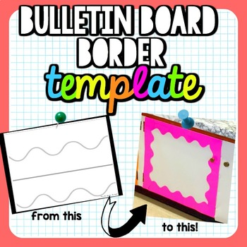 bulletin board border template by that one happy classroom tpt