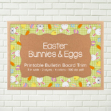 Bulletin Board Border Trim - Easter bunnies and eggs