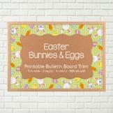 Bulletin Board Border Trim - Easter bunnies and eggs