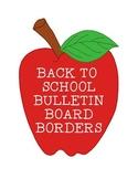 Bulletin Board Borders Back to School Apples Buses Pencils