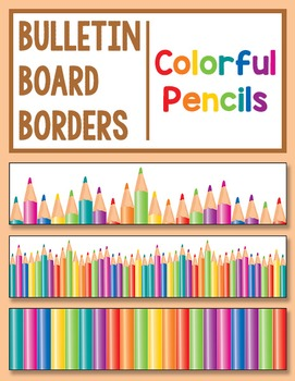 Bulletin Board Borders: Colorful Pencils