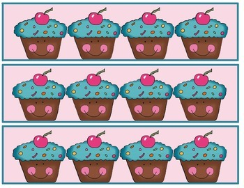 Bulletin Board Borders- Cupcake Theme