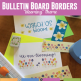 Bulletin Board Borders Flowers: Five Borders with Blooming Theme