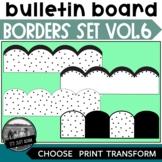 Bulletin Board Borders ll Volume 6 Scattered Dots Random D