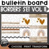 Bulletin Board Borders ll Volume 8 Black Dots Modern Boho Rainbow