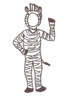 Bulletin Board Buddies - Zebra Suit