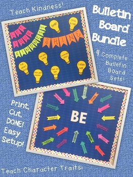 Bulletin Board Bundle--Character Traits and Growth Mindset Bulletin Boards