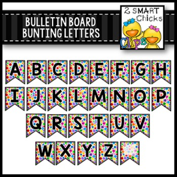 Bulletin Board Bunting Letters – Bright Dots