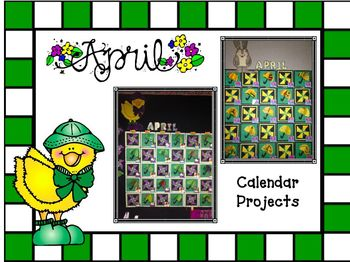 Bulletin Board Calendar: Creative Monthly Student Art Display-April