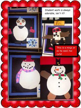 Bulletin Board Calendar: Creative Monthly Student Art Display-December