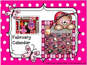 Bulletin Board Calendar: Creative Monthly Student Art Display-February