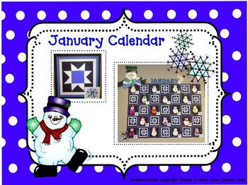 Bulletin Board Calendar: Creative Monthly Student Art Display-January