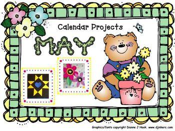 Bulletin Board Calendar: Creative Monthly Student Art Display-May