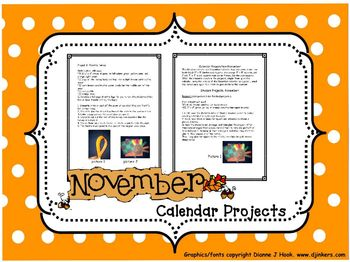 Bulletin Board Calendar: Creative Monthly Student Art Display-November