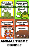 Bulletin Board - Calendar Materials BUNDLE - Animals (Tige