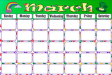 Bulletin Board Calendar Pet Paws Theme