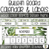 Bulletin Board Calendar Set - Water color Tropical Desert Theme