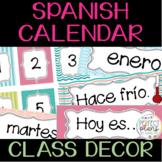 Bulletin Board Calendar in Spanish