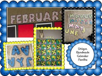 Bulletin Board Calendar:Unique Monthly Letters for July an