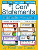 "Editable Bulletin Board ""I Can"" Statement Cards {TSG Head Start Pre-K}"