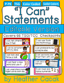 "Editable Bulletin Board ""I Can"" Statement Cards {TSG Head"
