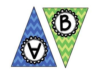 Bulletin Board Chevron Letters