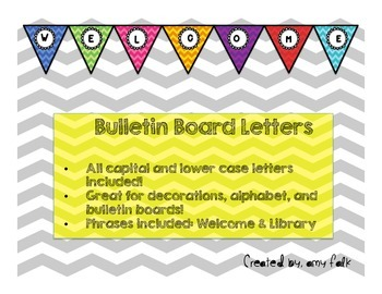 Bulletin Board Chevron Letters