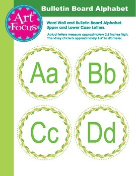 Bulletin Board Circle Alphabet - Upper and Lower Case
