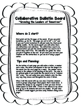 No Prep - Bulletin Board -Collaborative Mural- Character Education
