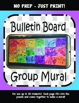 No Prep - Bulletin Board -Collaborative Mural- Character E