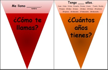 Bulletin Board! Colorful Question Wheel with Basic Spanish Questions