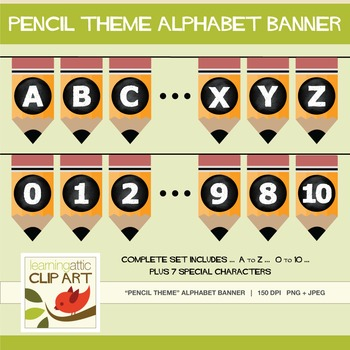 Bulletin Board - Complete Set Bunting Banner (Pencil Theme)