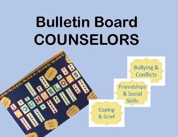 Bulletin Board CounselorS Ready to Use! SALE
