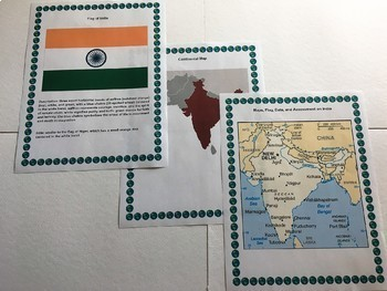 Bulletin Board - Countries of Asia includes Maps, Flags, Data, and Assessments