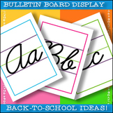 26 Cursive Handwriting Posters / Colorful Letter Display f
