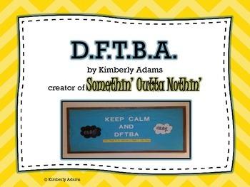Back-to-School Bulletin Board (D.F.T.B.A.)