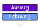 Bulletin Board- Days and Months (+Dates included)