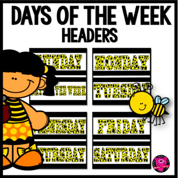 CALENDAR TIME DAYS OF THE WEEK SET in YELLOW THEME