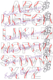 Bulletin Board Decor-Baseball Letters Alphabet