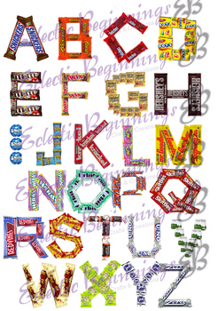 Bulletin Board Decor-Candy Letters Alphabet