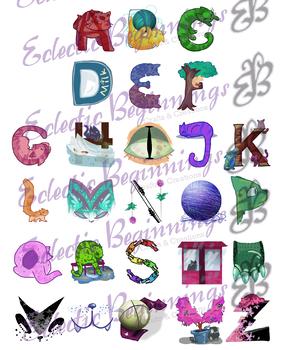 Bulletin Board Decor-Cat Letters Alphabet