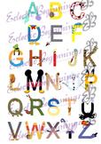 Bulletin Board Decor-Disney Letters Alphabet