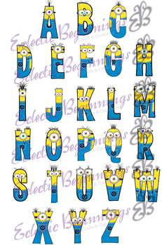 Bulletin Board Decor-Minions Letters Alphabet