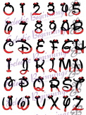 Bulletin Board Decor-Minnie Mouse Letters Numbers Alphabet