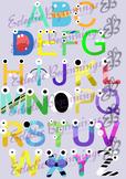 Bulletin Board Decor-Monsters Letters Alphabet