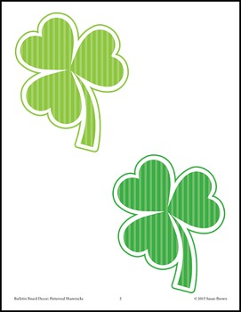 Bulletin Board Decor: Patterned Shamrocks